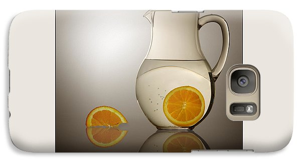 Galaxy Case featuring the photograph Oranges And Water Pitcher by Joe Bonita