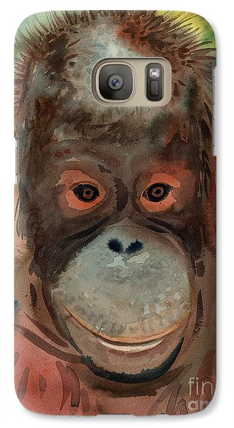 Orangutan Galaxy S7 Case by Donald Maier
