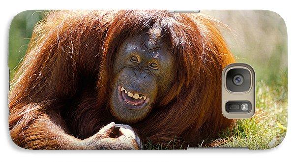 Orangutan In The Grass Galaxy S7 Case by Garry Gay