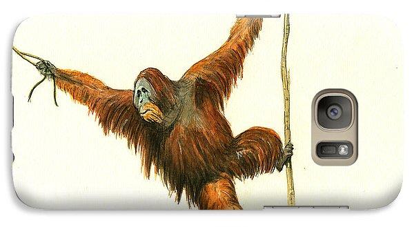 Orangutan Galaxy S7 Case by Juan Bosco