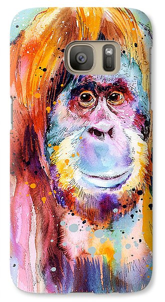 Orangutan  Galaxy Case by Slavi Aladjova