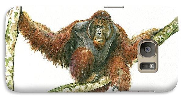 Orangutang Galaxy S7 Case by Juan Bosco