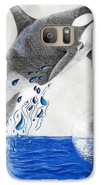 Galaxy Case featuring the drawing Orca by Mayhem Mediums