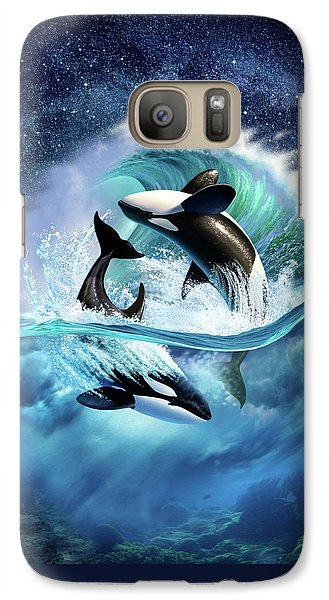 Orca Wave Galaxy S7 Case