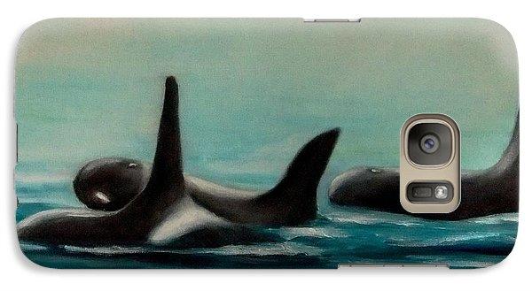 Galaxy Case featuring the painting Orca's by Annemeet Hasidi- van der Leij