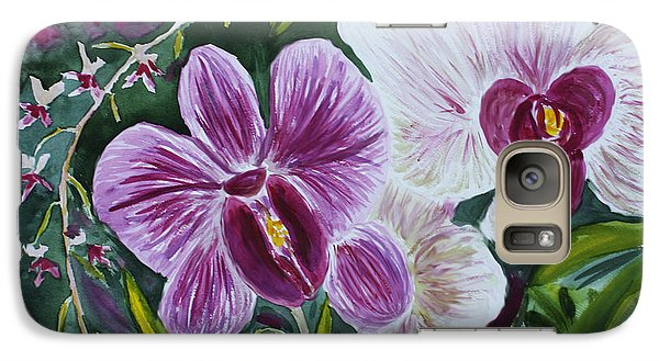 Galaxy Case featuring the painting Orchid At Aos 2010 by Donna Walsh