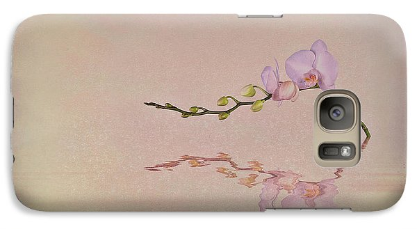 Orchid Blooms And Buds Galaxy Case by Tom Mc Nemar