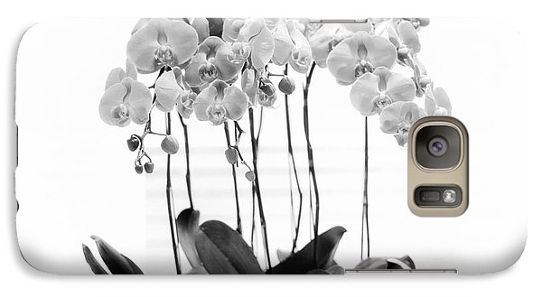 Galaxy Case featuring the photograph Orchid Butterfly Flowers by Charline Xia