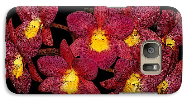 Galaxy Case featuring the photograph Orchid Floral Arrangement by Gary Crockett