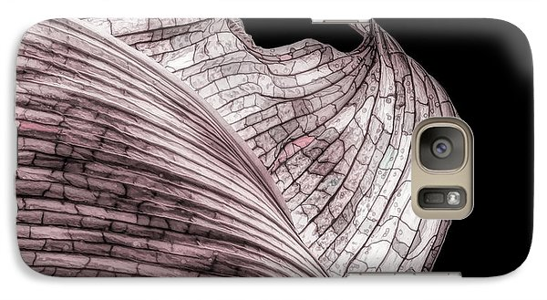 Orchid Galaxy S7 Case - Orchid Leaf Macro by Tom Mc Nemar