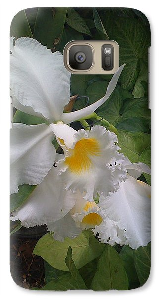 Galaxy Case featuring the photograph orchid VIII by Fanny Diaz
