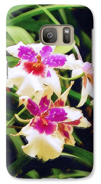 Galaxy Case featuring the painting Orchids 1 by Sandy MacGowan