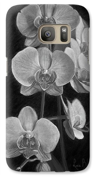 Orchids - Black And White Galaxy S7 Case by Lucie Bilodeau