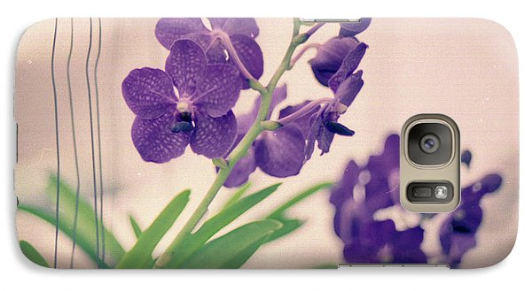 Galaxy S7 Case featuring the photograph Orchids In Purple  by Ana V Ramirez