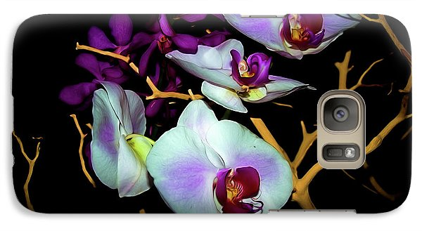 Galaxy Case featuring the photograph Orchids In Water Color by Diana Mary Sharpton