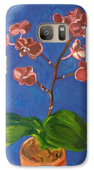 Galaxy Case featuring the painting Orchids by Joshua Redman