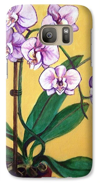 Galaxy Case featuring the painting Orchids by Laura Aceto