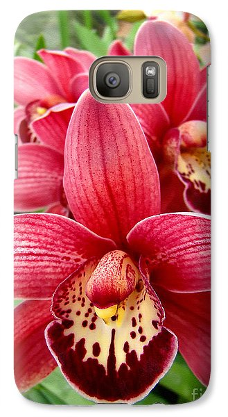 Galaxy Case featuring the photograph Orchids Up Close by Sue Melvin