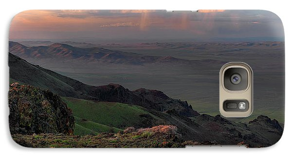 Galaxy Case featuring the photograph Oregon Canyon Mountain Views by Leland D Howard