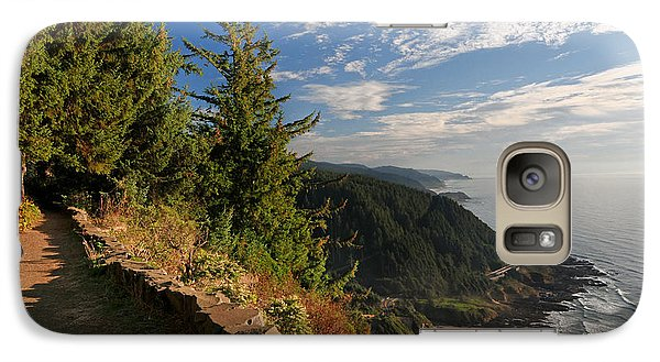 Galaxy Case featuring the photograph Oregon Coast Cape Perpetua View by Lara Ellis
