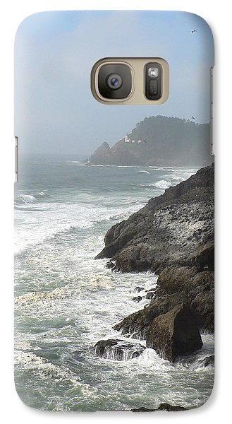 Galaxy Case featuring the photograph Oregon Coast by Larry Keahey