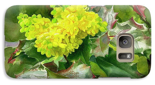 Oregon Grape Blossoms With Leaves Galaxy S7 Case by Sharon Freeman