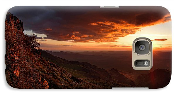 Galaxy Case featuring the photograph Oregon Mountains Sunrise by Leland D Howard