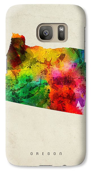 Oregon State Map 01 Galaxy S7 Case by Aged Pixel