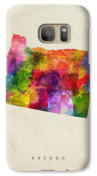 Oregon State Map 02 Galaxy S7 Case by Aged Pixel