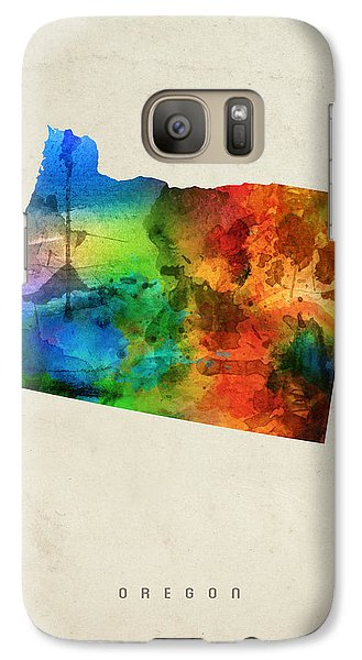 Oregon State Map 03 Galaxy S7 Case by Aged Pixel