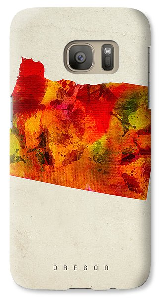 Oregon State Map 04 Galaxy S7 Case by Aged Pixel
