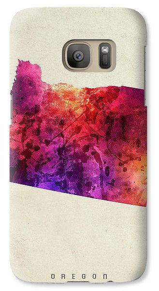 Oregon State Map 05 Galaxy S7 Case by Aged Pixel
