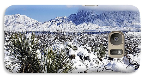 Galaxy Case featuring the photograph Winter's Blanket Organ Mountains by Kurt Van Wagner
