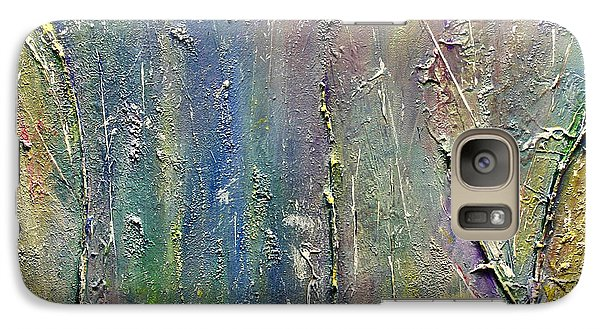 Galaxy Case featuring the painting Organic Fantasy Forest by Dolores  Deal
