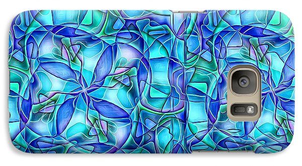 Galaxy Case featuring the digital art Organic In Square by Ron Bissett