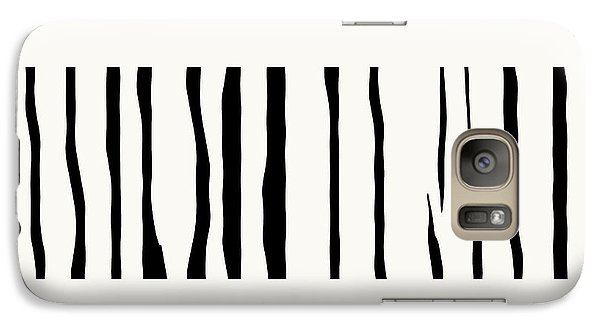 Organic No 12 Black And White Line Abstract Galaxy S7 Case