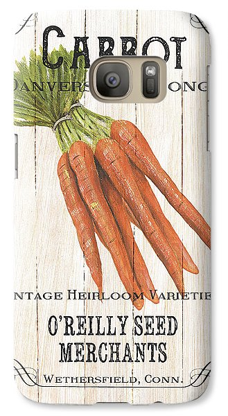 Artichoke Galaxy S7 Case - Organic Seed Packet 2 by Debbie DeWitt