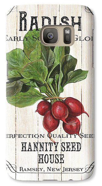 Artichoke Galaxy S7 Case - Organic Seed Packet 3 by Debbie DeWitt