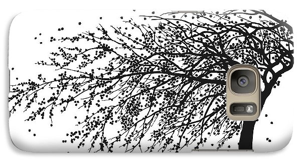 Galaxy Case featuring the mixed media Oriental Foliage by Gina Dsgn