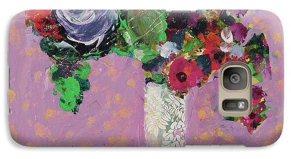 Galaxy Case featuring the painting Original Bouquetaday Floral Painting 12x12 On Canvas, By Elaine Elliott, 59.00 Incl. Shipping by Elaine Elliott