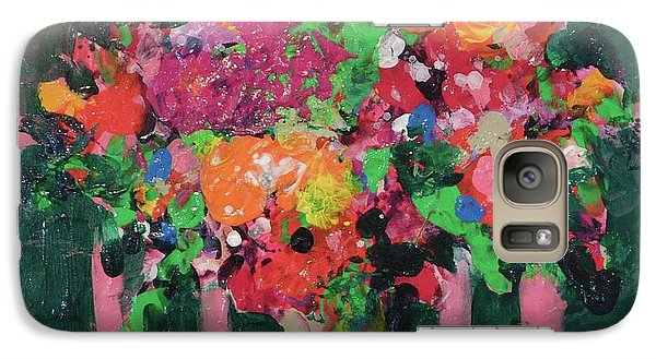 Galaxy Case featuring the painting Original Bouquetaday Floral Painting By Elaine Elliott 59.00 Incl Shipping 12x12 On Canvas by Elaine Elliott