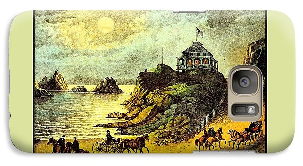 Galaxy Case featuring the painting Original San Francisco Cliff House Circa 1865 by Peter Gumaer Ogden