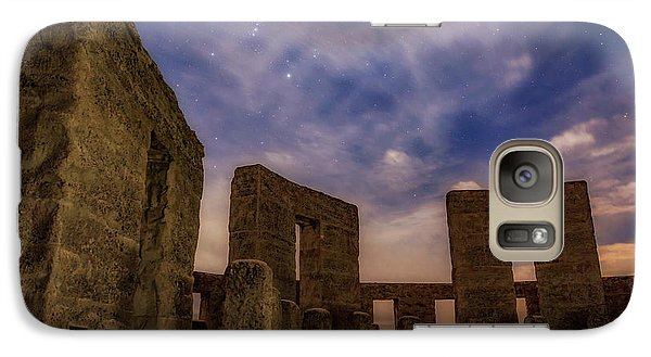 Galaxy Case featuring the photograph Orion Over Stonehenge Memorial by Cat Connor