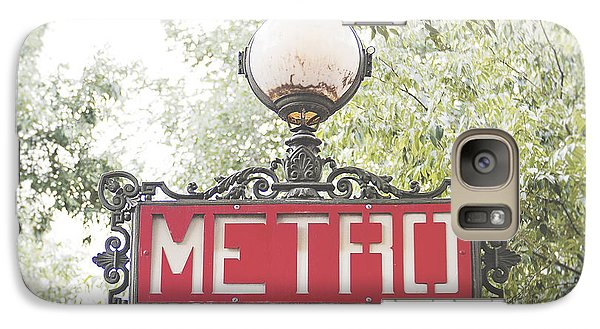 Transportation Galaxy S7 Case - Ornate Paris Metro Sign by Ivy Ho