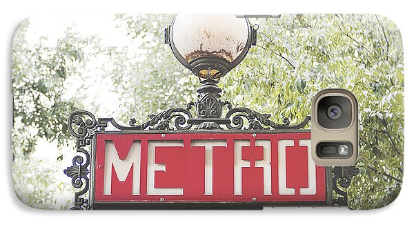 Ornate Paris Metro Sign Galaxy S7 Case by Ivy Ho