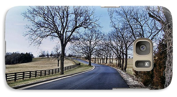 Galaxy Case featuring the photograph Osage County Road by Cricket Hackmann