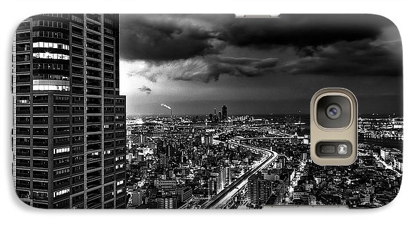 Galaxy Case featuring the photograph Osaka by Hayato Matsumoto