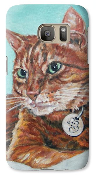 Galaxy Case featuring the painting Oscar by Bryan Bustard