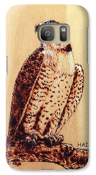Galaxy Case featuring the pyrography Osprey 2 by Ron Haist