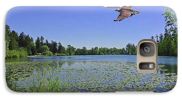 Osprey Fishing At Wapato Lake Galaxy S7 Case